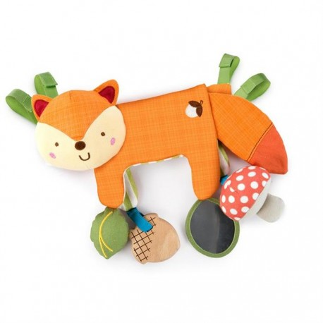 Bright Starts - 11074 - Jucarie multifunctionala 2 in 1 Foxy Forest Toy Bar