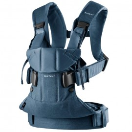 BabyBjorn - Marsupiu anatomic One cu pozitii multiple de purtare Denim Midnight Blue Bumbac