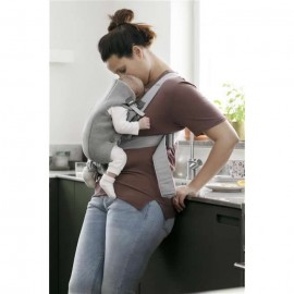 BabyBjorn - Marsupiu anatomic Mini cu pozitii multiple de purtare - Light Grey 3D Jersey