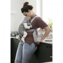 BabyBjorn - Marsupiu anatomic Mini cu pozitii multiple de purtare - Light Grey 3D Jersey