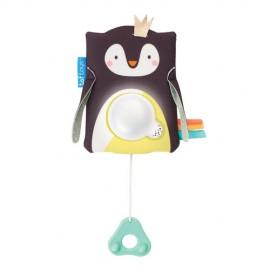 Jucarie multifunctionala cu inel gingival Pinguinul Prince Taf Toys
