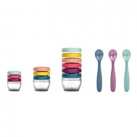 Multi set pentru diversificare 3 seturi recipiente si un set linguri Babymoov