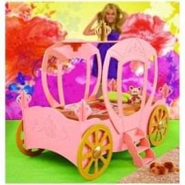 Patut in forma de masina Princess Carriage Plastiko