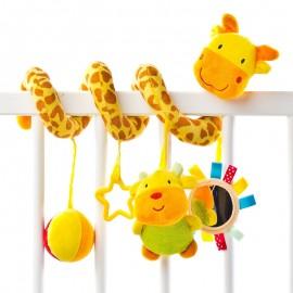 Spirala cu jucarii pentru carucior si patut Sensillo Giraffe