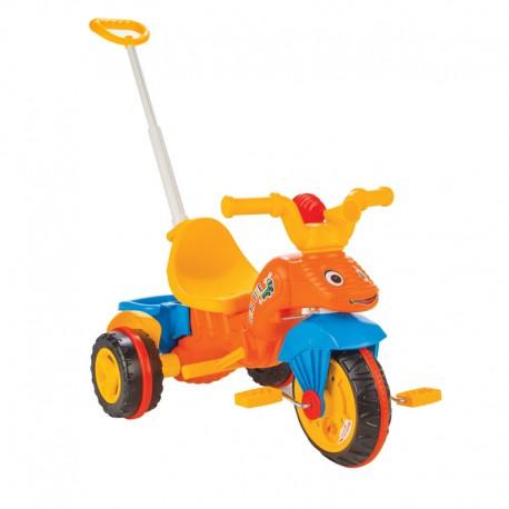 Tricicleta cu maner parental Pilsan CATERPILLAR