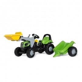 Tractor cu pedale remorca si cupa Rolly Toys RollyKid Deutz-Fahr 5115 G TB