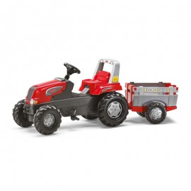Tractor cu pedale si remorca Rolly Toys RollyJunior 3-8 ani