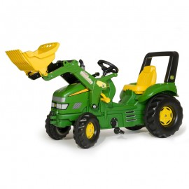 Tractor cu pedale si cupa Rolly Toys RollyX-Trac John Deere 3-10 ani