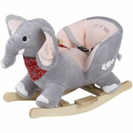 Balansoar cu sunete Elefantul Curios BabyGo