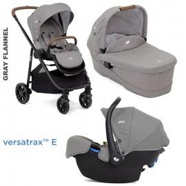 Carucior Joie Versatrax E 3 in1 Gray Flannel