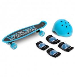Skateboard cu casca si cotiere si genunchiere Toyz DEXTER