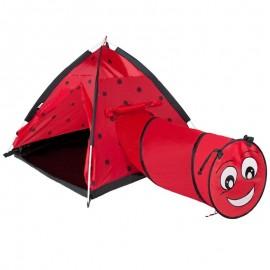 Cort cu tunel pentru copii Playto Ladybug