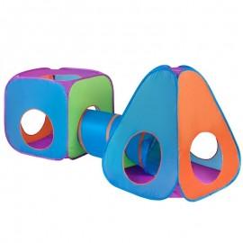 Cort cu tunel 3 in 1 pentru copii PlayTo