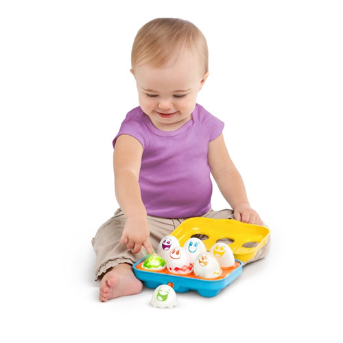 Bright Starts 52125 Jucarie Put n Shake Eggs Giggling Gourmet