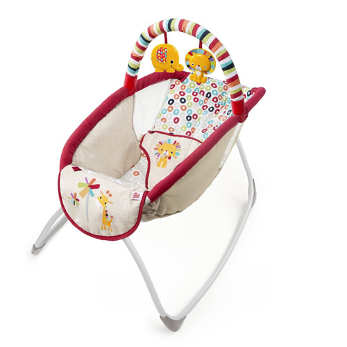 Playful Pinwheels Playtime to Bedtime Rocking Sleeper Bright Sta