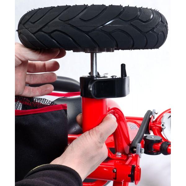 Tricicleta cu maner si roti gonflabile Derby Toyz by Caretero