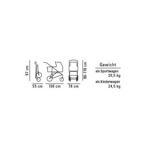 Carucior gemeni 2 in 1 Hartan ZX II cu portbebe soft