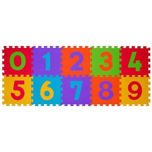 Covoras Puzzle 10 piese 6m Cifre BabyOno
