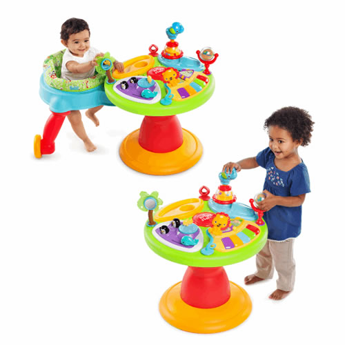 Centru activitati 3 in 1 Bright Starts Doodle Bugs Around We Go!