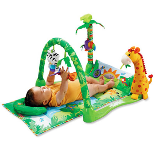 Centru activitati Fisher Price Rainforest 1-2-3 Musical Gym