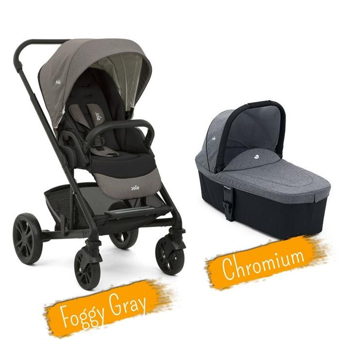 Joie - Set Carucior multifunctional 2 in 1 Chrome Foggy Gray si