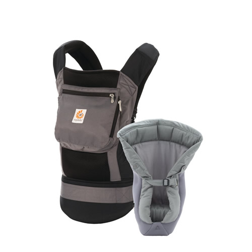 Marsupiu Ergobaby Performance cu suport inclus Black - Charcoal
