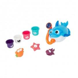 Set jucarii multicolore pentru baie Badabulle