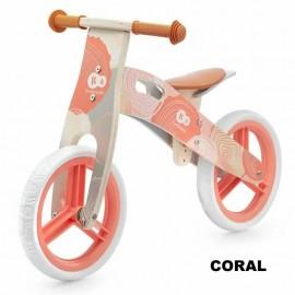 Bicicleta din lemn fara pedale Kinderkraft Runner 2021 Nature